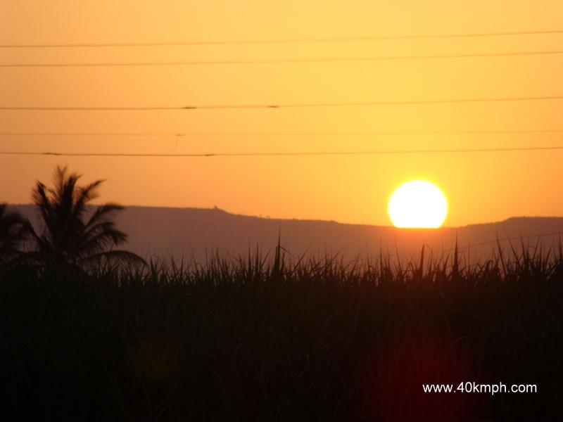 Sunrise in Ozar, Maharashtra