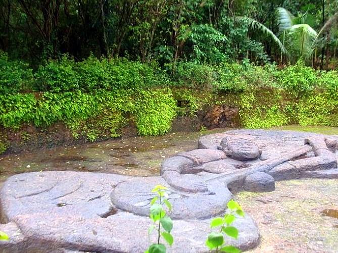 Longest Laterite Sculpture in India - Mirabai at Big Foot, Loutolim, Goa