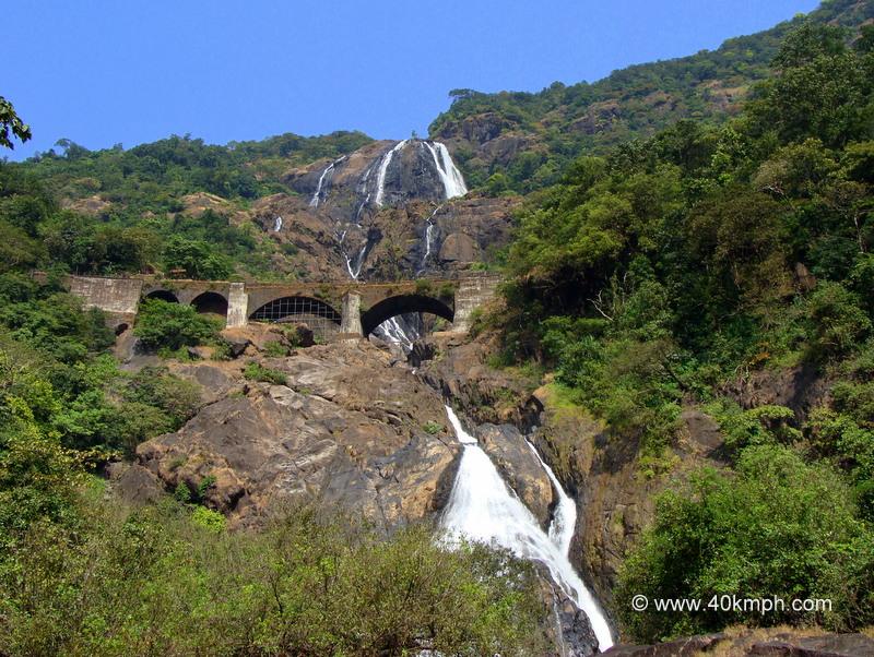 Dudhsagar Waterfalls, Bhagwan Mahaveer Wildlife Sanctuary and National Park, Collem, Goa