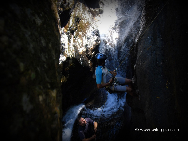 Abseiling Training at Netravali Waterfalls, Goa