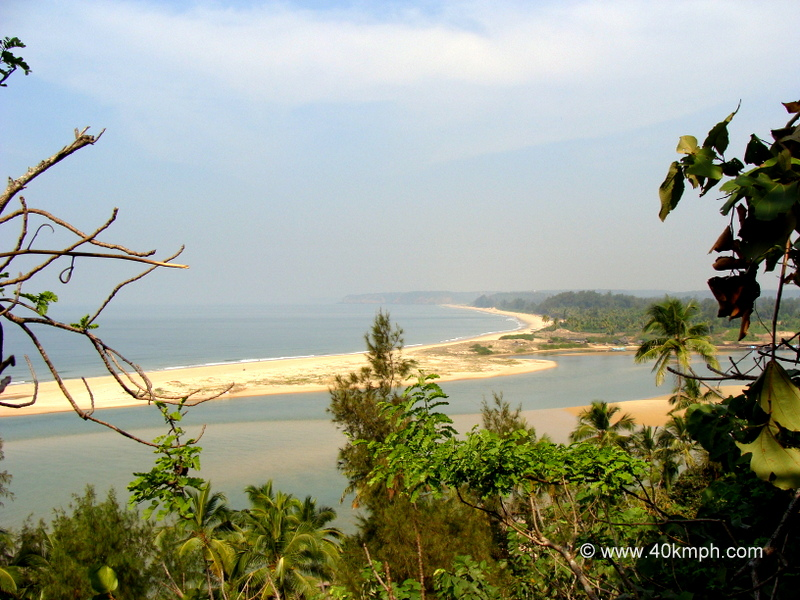 View of Paradise Beach from Redi Fort, Redi Village, Vengurla, Maharashtra