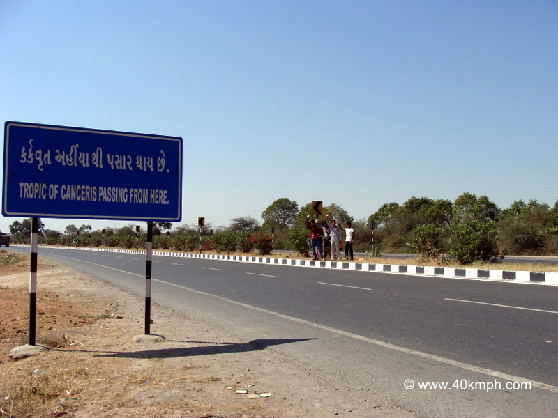 Tropic of Cancer, Sonasan, Gujarat