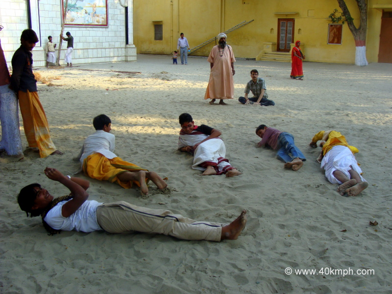 Braj Chaurasi Kos Yatra Devotees Rolling Over Sand