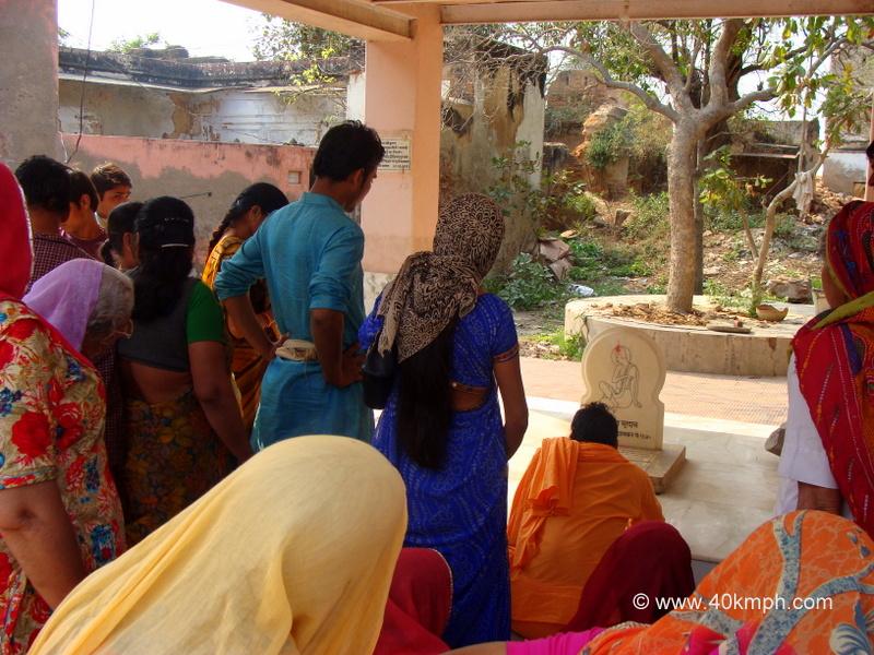 Braj Chaurasi Kos Yatra Devotees at Surdas Samadhi, Parasauli, Uttar Pradesh