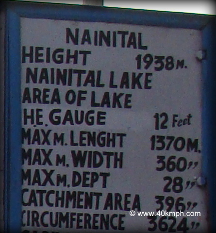Dimensions of Naini Lake, Nainital, Uttarakhand