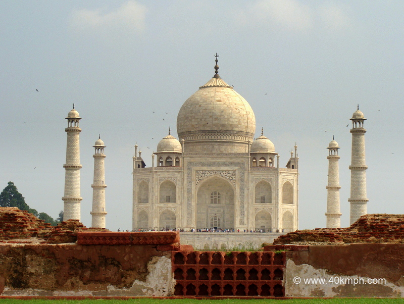 Rear View of Taj Mahal from Mahtab Bagh, Agra, Uttar Pradesh