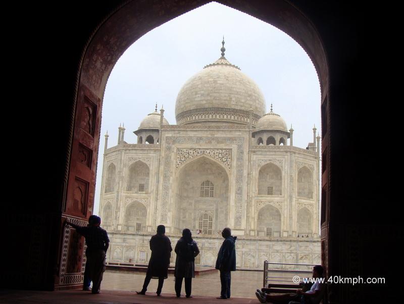 View of Taj Mahal from Mihman Khana, Agra, Uttar Pradesh