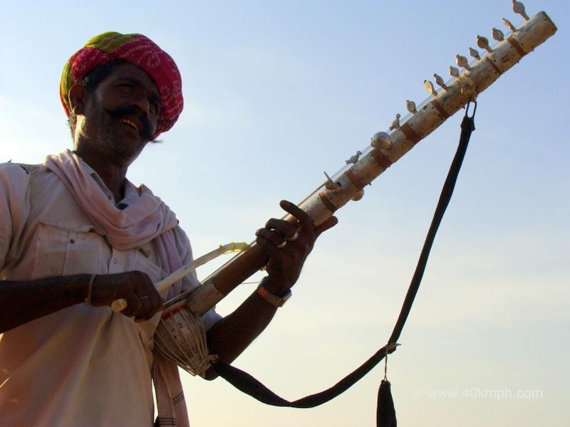 Man Playing Ravanhatta