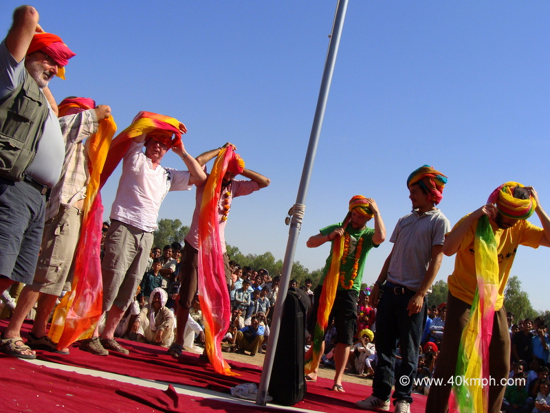 Turban Tying Competition, Bundi Utsav - 2011, Rajasthan