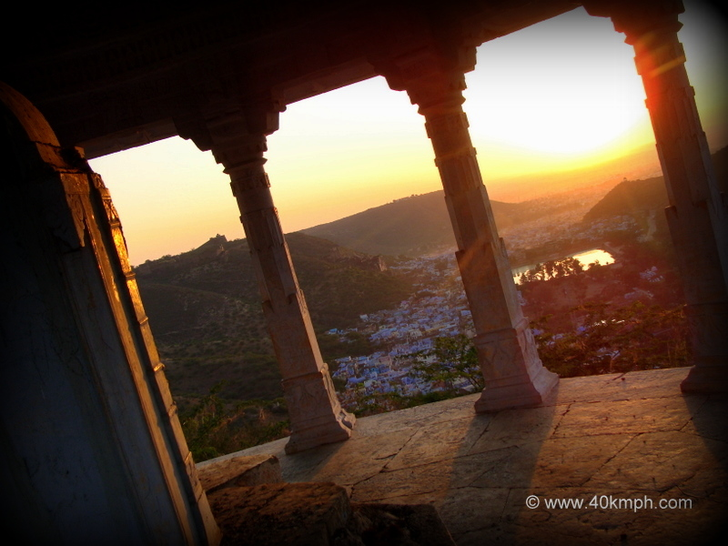 View of Bundi City and The Sunrise from Suraj Chhatri, Bundi, Rajasthan