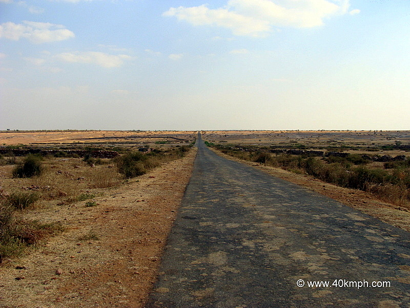 Empty Road and Barren Land
