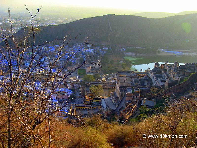 View of Bundi City and The Palace from Taragarh Fort, Bundi, Rajasthan