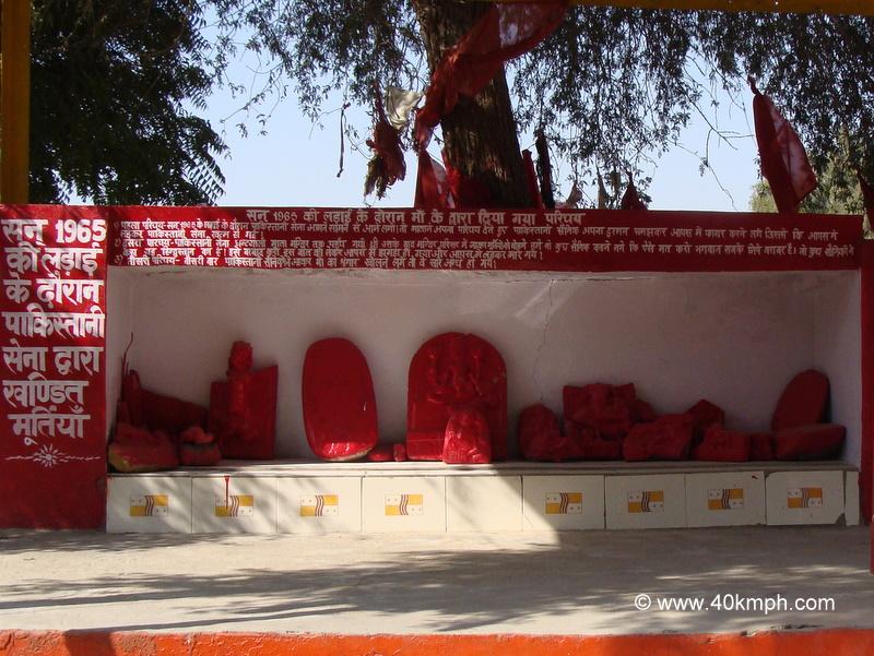 Broken Idols at Ghantayali Mata Temple, Tanot, Rajasthan