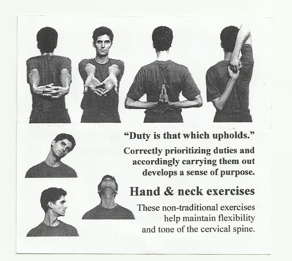 Hand and Neck Exercises
