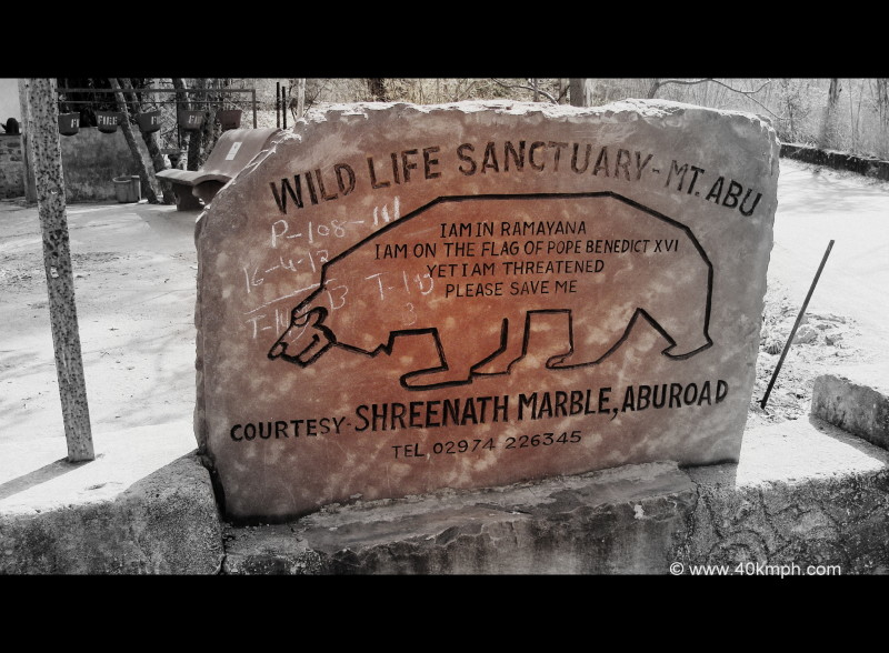 Save Bear Message at Wild Life Sanctuary, Mount Abu, Rajasthan