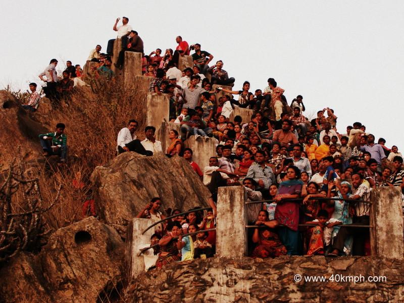 Tourist Watching Sunset, Sunset Point, Mount Abu, Rajasthan