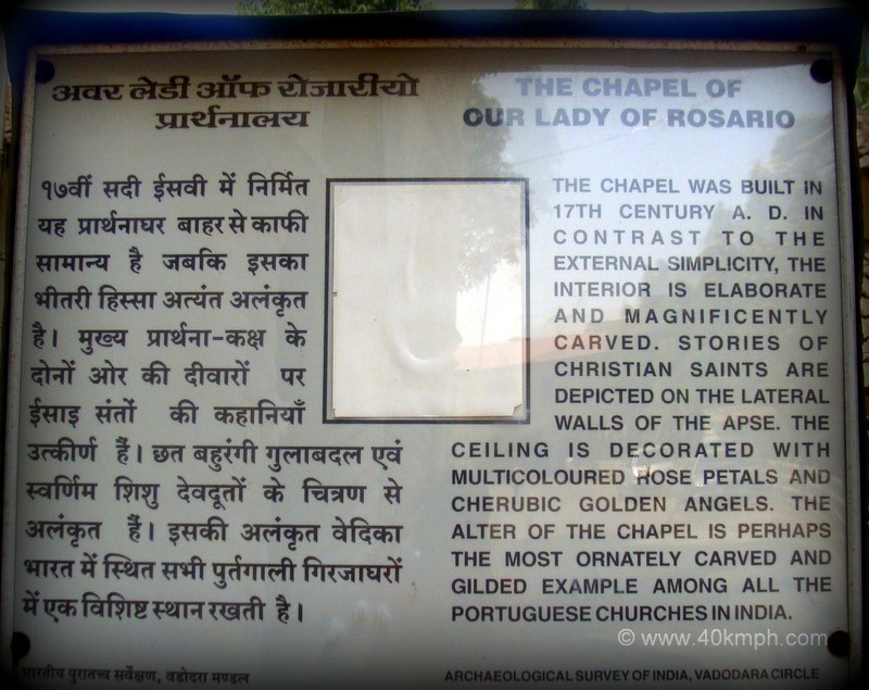 History of The Chapel of Our Lady of Rosario, Moti Daman