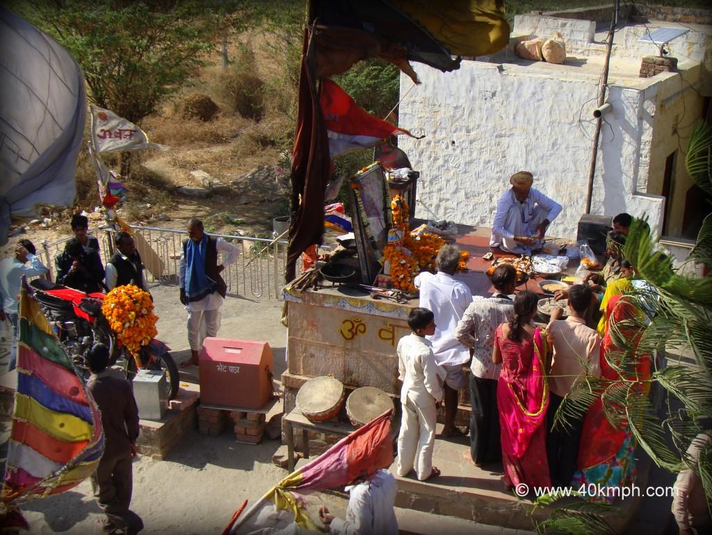 Om Banna and Shrine for Motorbike, Chotila Village, Pali, Rajasthan