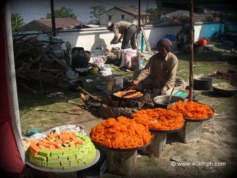 Barfi and Jalebi Sweets Preparation during Festival in Khirsu, Uttarakhand
