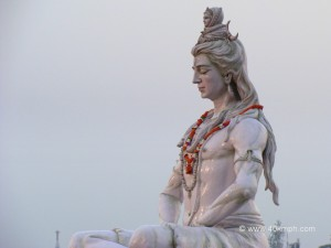 Lord Shiva and Goddess Ganga Statue on the Banks of Ganga, Parmarth, Rishikesh, Uttarakhand