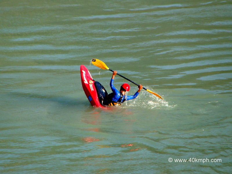 Kayak Training in the River Ganga