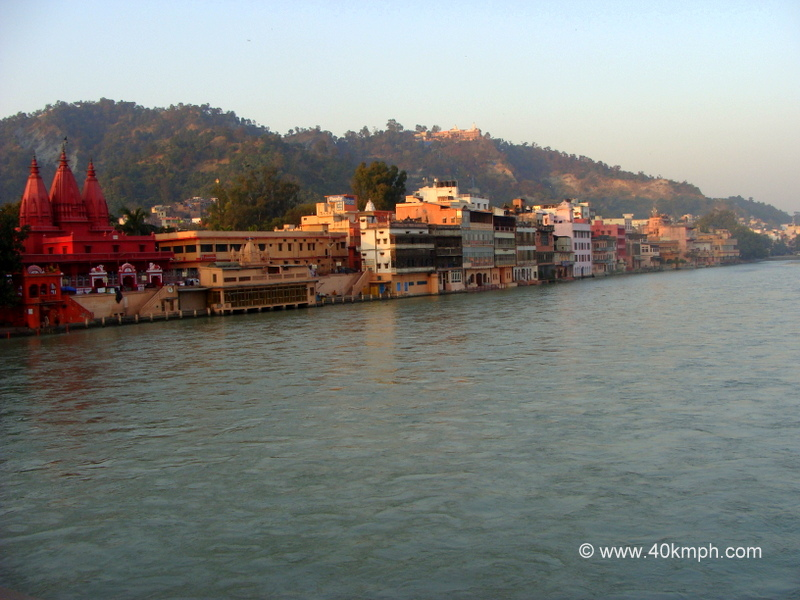Haridwar City (Uttarakhand) on the Banks of River Ganga View from Birla Setu