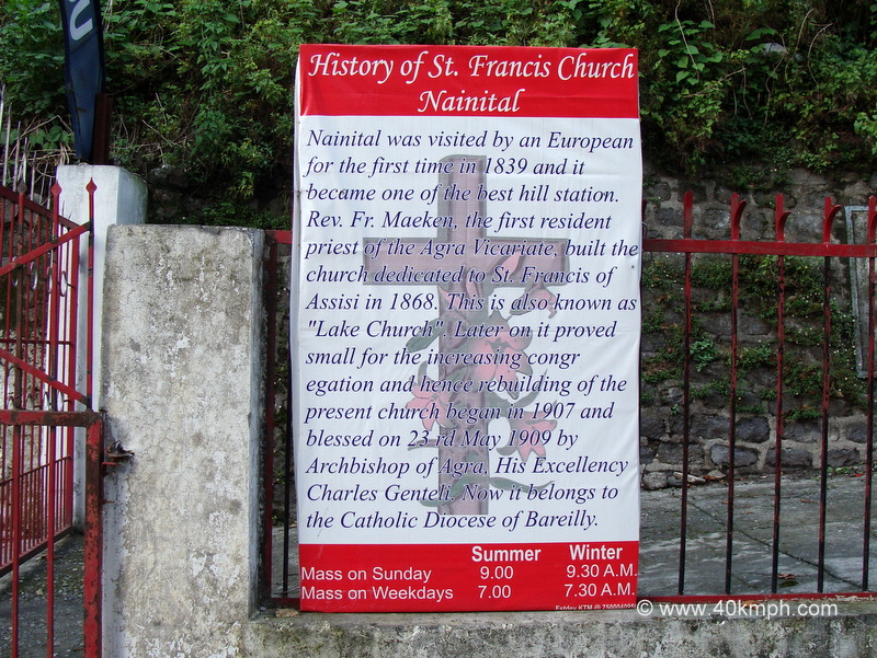 History of St. Francis Catholic Church, Nainital, Uttarakhand