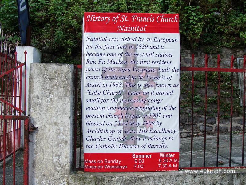 History of St. Francis Catholic Church, Nainital, Uttarakhand
