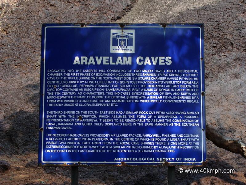 Aravelam Caves (Bicholim, Goa) Historical Marker
