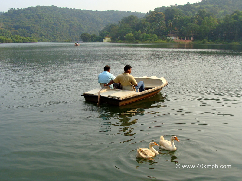 Boating in Mayem Lake, Bicholim, Goa