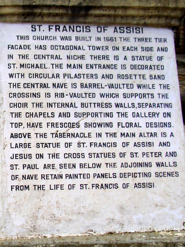 Church of St. Francis of Assisi (Old Goa) Historical Marker