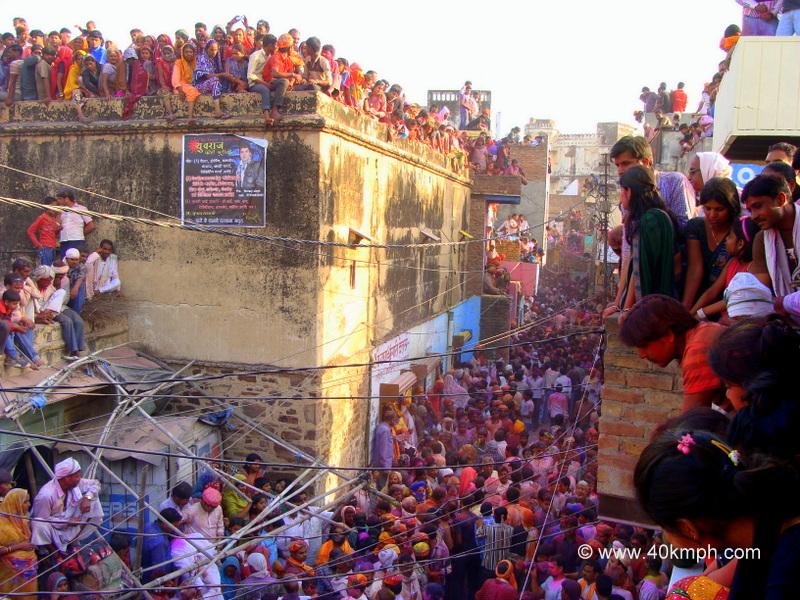 Crowd at Barsana for Lathmar Holi