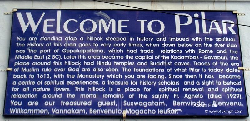 Pilar (Goa) Historical Marker