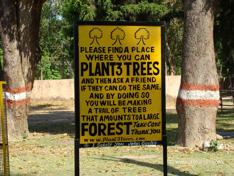 Tree Plantation Awareness Sign