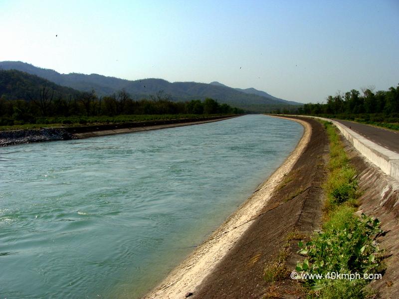 View of Ganga Canal, Chilla, Rishikesh, Uttarakhand