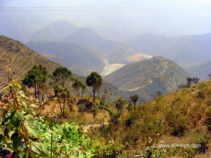 View of Ganga River from Danda Nagraja Temple, Pauri Garhwal, Uttarakhand