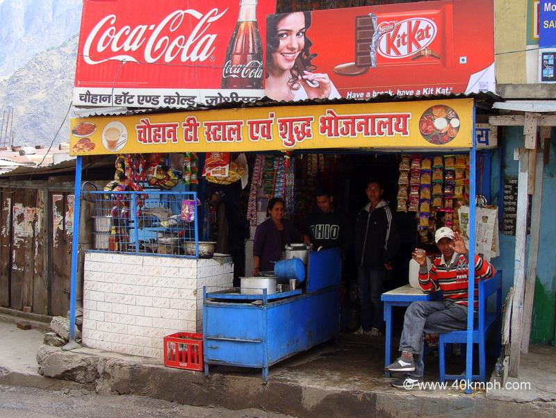 Chauhan Tea Stall and Shudh Bhojnalaya, Joshimath, Chamoli, Uttarakhand
