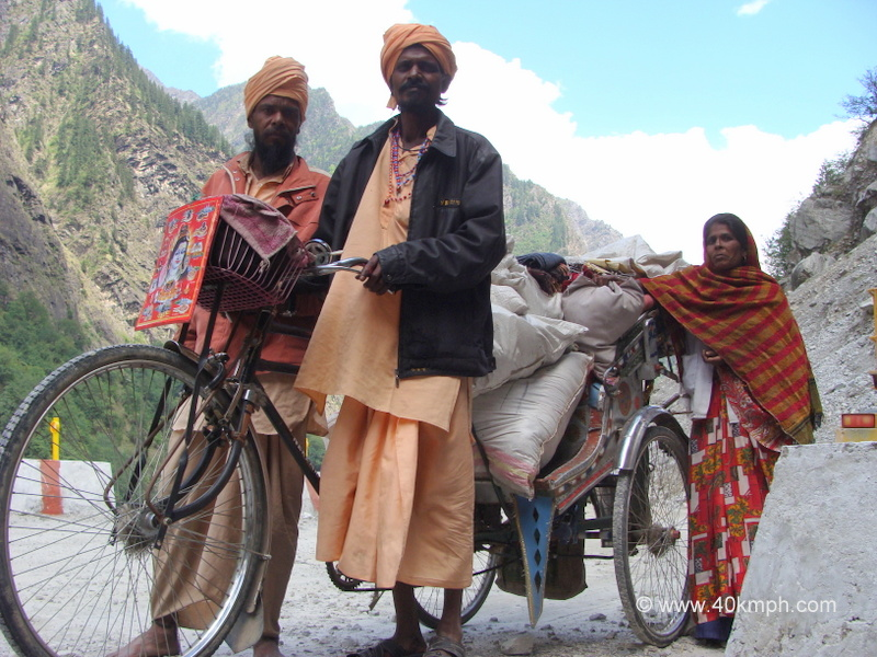 Devotees Journey from Kurukshetra to Badrinath by Cycle Rickshaw