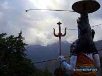 Lord Shiva Statue Facing Himalayas