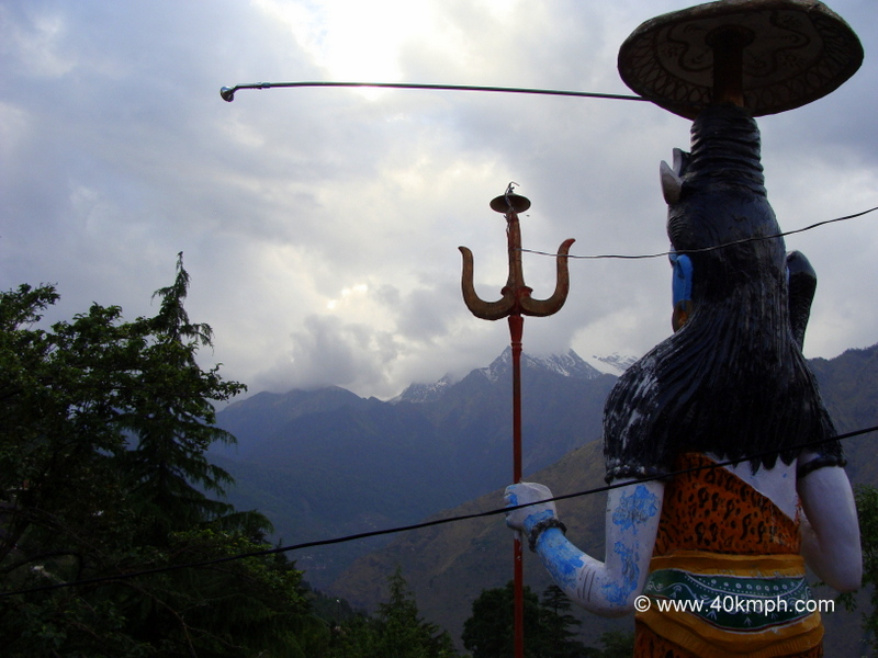 Lord Shiva Statue Facing Himalayas