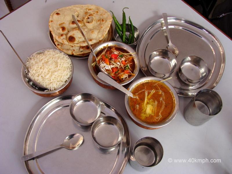 Chole, Dal Makhani, Rice and Tandoori Roti for Lunch