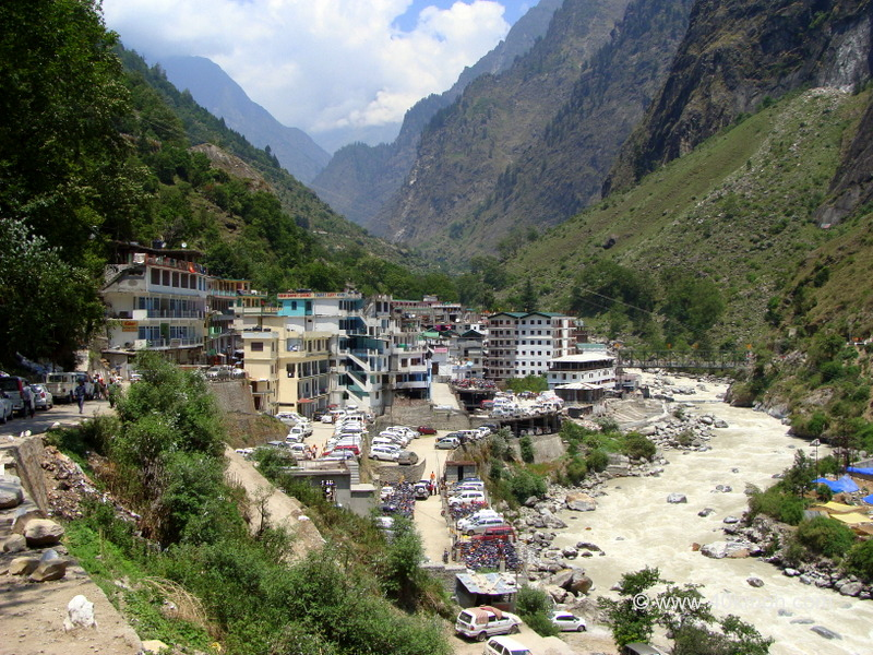 Govindghat Town on the Banks of River Alaknanda, Uttarakhand