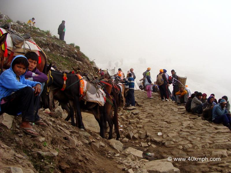 Horseback Riding Ends before Hemkund Glacier, Chamoli, Uttarakhand