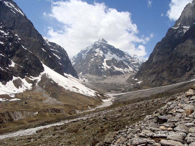 View of Laxmi Van from Vasudhara Falls, Mana Village, Uttarakhand