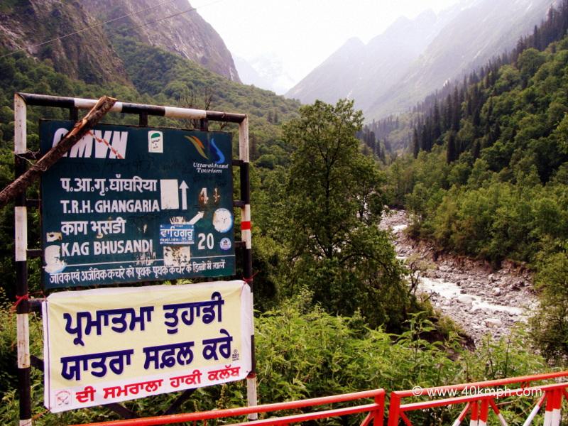 View of Way to Kagbhusandi from Govindghat to Ghangaria Trek, Uttarakhand