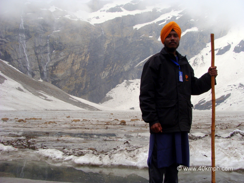 A Sikh Guard at Hemkund Lake, Uttarakhand