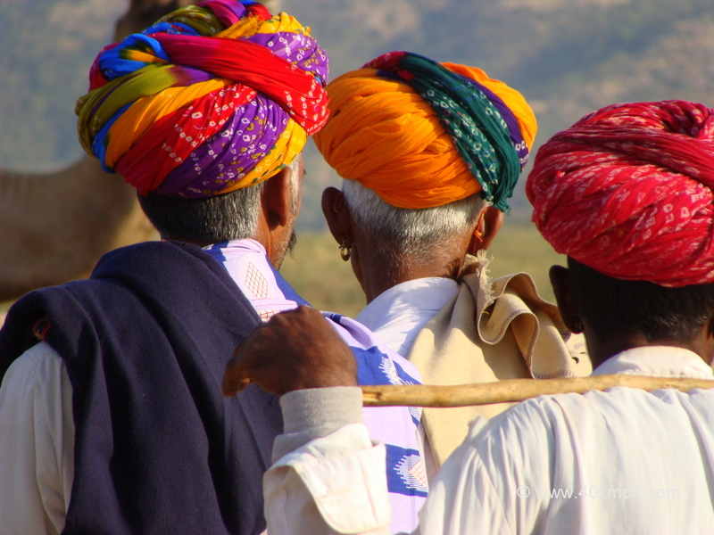 Colorful Turbans, Pushkar Camel Fair 2011