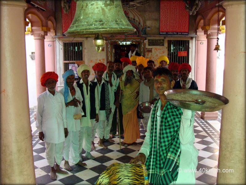 Devotees at Shakambari Devi Temple, Sambhar, Rajasthan