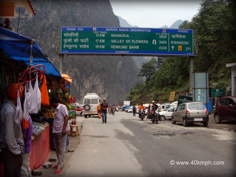 High Altitude Tourist Places and Distance from Govindghat, Chamoli, Uttarakhand