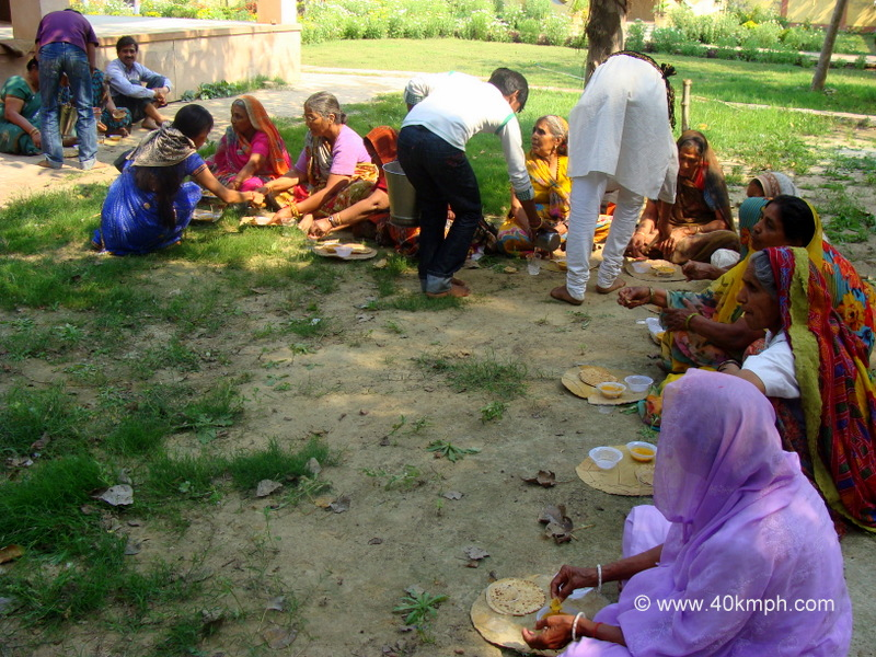 Lunch Time for Braj Chaurasi Kos Yatra Devotees